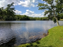 No hike just wandered to the lake at Poconos Valley Resort PA