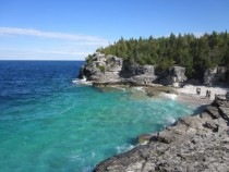 No Its not the Caribbean Its Lake Huron The Overlook Bruce Trail Ontario Canada
