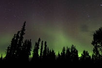 No light pollution The aurora and night sky over Tok Alaska on Wednesday Sept