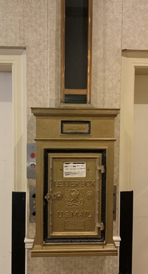 No Longer In Service - The Historic Genetti Hotel US Mail Letterbox Williamsport PA