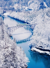 No  Tadami River Bridge ocated in the western region of Aizu in Fukushima Prefecture of Japan