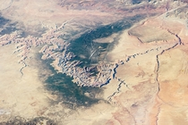 No this isnt from Google Earth This is the Grand Canyon taken from the Internation Space Station on  March