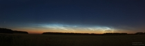 Noctilucent clouds near Minsk Belarus