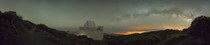 Nocturnal Hiking amp Photography   Panorama nearby the Telescopes of La Palma - in fact the Isaac Newton Telescope Nikon D  Samyang mm f - ISO  - f - sec -  Frames