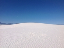 Nope thats not snow either These are the pristine white sand dunes of New Mexicos White Sand National Park