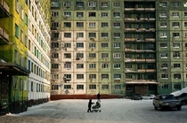Norilsk Russia located above the Arctic Circle is one of the worlds most polluted cities These Pre-fabricated apartments  called Gostinka  were built as temporary dwellings in the s then abandoned though today some have been reoccupied