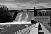 Norris Dam With Several Chutes Open