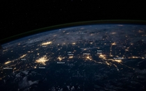 North American Gulf Coast From Space At Night I Labeled The Cities For Context