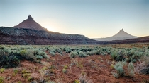 North and South Six Shooter Indian Creek Recreation Area Utah USA
