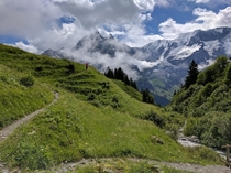 North Face trail just outside Gimmelwald CH