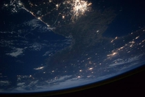 North Korea as seen from the International Space Station taken by Astronaut Scott Kelly