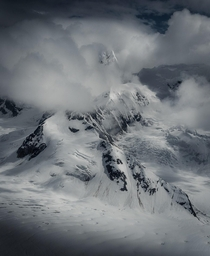 North of the Wall A shot from a photo flight in Denali National Park Alaska