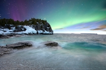 Northern Aurora Bruce Peninsula National Park Canada