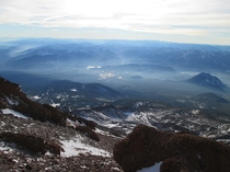 Northern California from  on Mt Shasta
