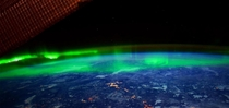 Northern light from space