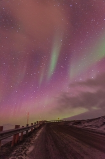 Northern lights as seen from Svalbard Norway