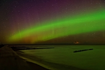 Northern Lights at Whitefish Point Lake Superior