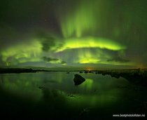 Northern lights cast alien glow over Scandinavia
