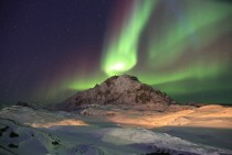 Northern Lights from Nuuk Greenland