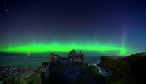 Northern lights over Dunluce Castle Co Antrim Ireland x