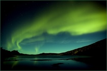 Northern lights over Hamary Norway