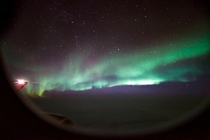 Northern lights over Siberia from my plane window