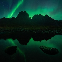 Northern lights over the Tombstone range Yukon Canada