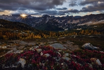 Northern Passage Autumn sunset in North Cascades WA  Photo by Brian Kibbons x-post from runitedstatesofamerica