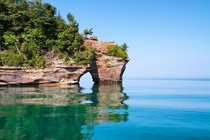 Northern shore of Grand Island on Lake Superior Michigan