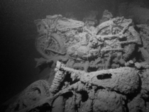 Norton motorcycles sunk while in the cargo hold of SS Thistlegorm in  Photo by Mark Harris