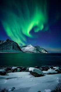 Norway nights Lofoten Islands Norway