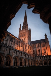 Norwich Cathedral Norfolk England Its the second tallest spire in England at ft  x