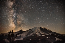Not a bad way to celebrate a birthday The Perseids Meteor Shower over Mt Rainier Washington