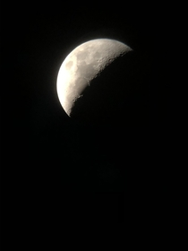 Not a great pic but the moon from my backyard on New Years Day