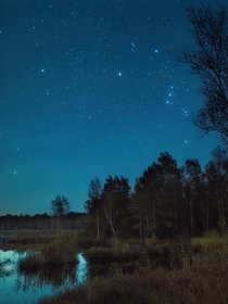 Not a single shooting star from the Orionid meteor shower during the brief cloudless timeframe last night Germany