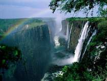 Not all of Africa is barren desert Victoria Falls Zambia
