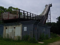 Not entirely abandoned but no ones using a ski jump in the summer Bloomington MN