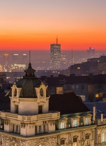 Not exactly a beautiful cityscape but theres just a pinch of charm to it Belgrade Serbia