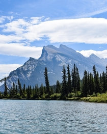 Not Reddit Lake but pretty close by Mount Rundle from the Bow River