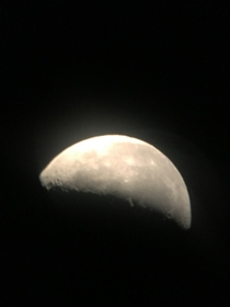 Not super detailed but its my first picture of the moon