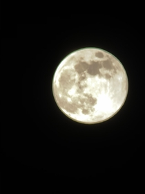 Not super high quality but a picture of the moon I took Im an amateur go easy