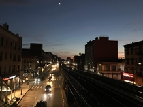 Not sure if this counts but a view of Atlantic Avenue in New York during the sunset