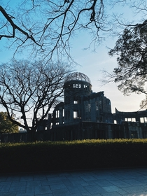 Not sure if this counts but finally visited Hiroshima where the atomic bomb was first dropped This building Now called Atomic Dome used to be an exhibition hall after the bomb was dropped this shell became part of the Hiroshima Peace Memorial