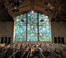 Not very often you come across an abandoned church with the stained glass windows still intact especially in Detroit