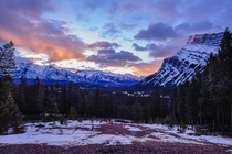 Not your usual Banff sunrise view