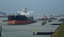 Nothing can be so relaxing than watching the ships pass by Port of Rotterdam