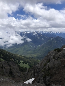 Nothing fancy but I love this view Hurricane Ridge Near port Angeles Washington