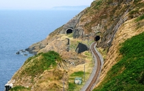 Nothing spectacular but our rail tunnel was moved inland due to cliff erosion Ireland