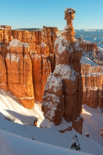 Now that winter is over I am kind of missing it Thors hammer rock formation Bryce Canyon Utah