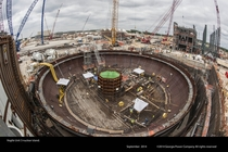 Nuclear containment vessel under construction at Vogtle
